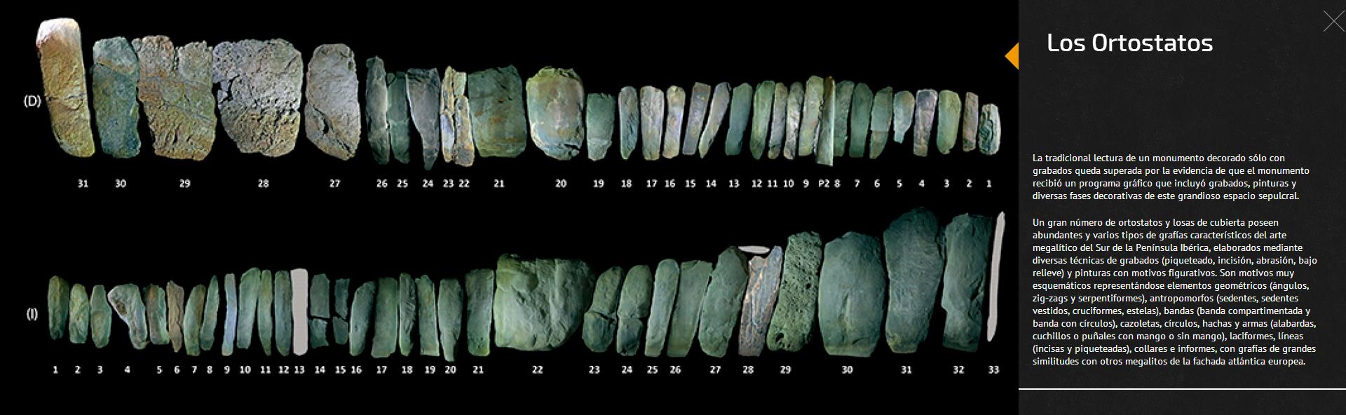 Se trata de un dolmen perteneciente a la familia de los dólmenes de corredor largo