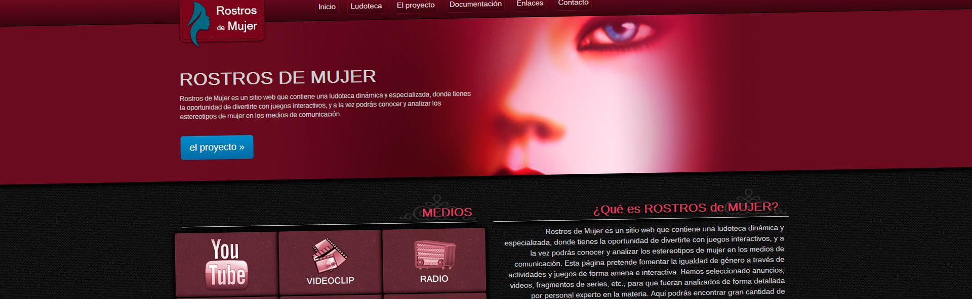Captura de pantalla - Rostros de mujer - Diseño web