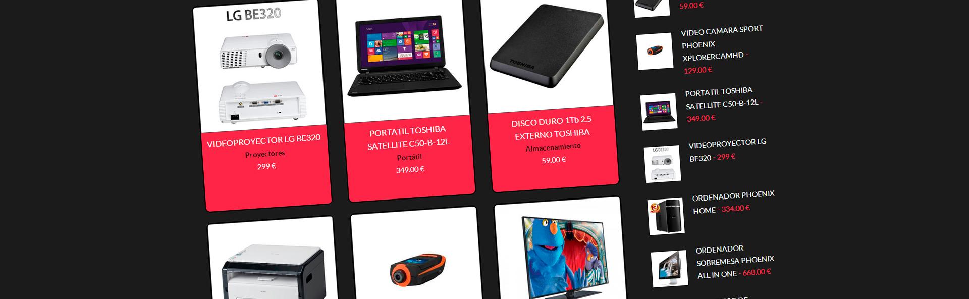 Venta de productos de nuevas tecnologías
